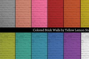 Colored Brick background papers
