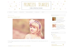 Blogger Template - Princess Diaries