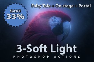 3x Soft Light Photoshop Actions