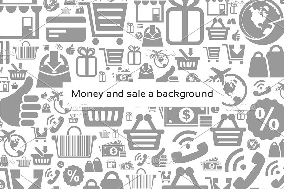 Money and sale a background
