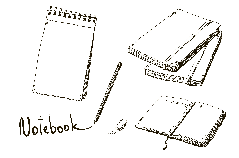 Set of hand drawn notebooks ~ Illustrations ~ Creative Market