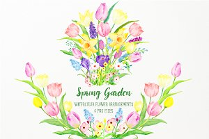 Spring Garden Flower Arrangements