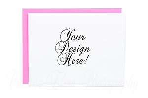 A2 envelope mock-up styled stock