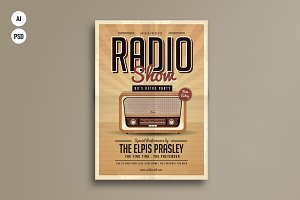 Retro Radio Party Flyer