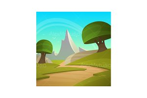 Cartoon Fantasy Landscape