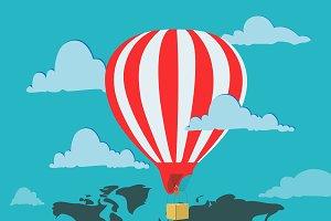 travel, air ballon, concept