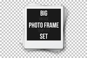 Retro Instant Photo Frame Set
