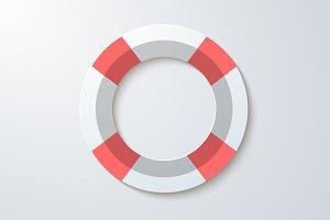 Life Saver Vector Icon