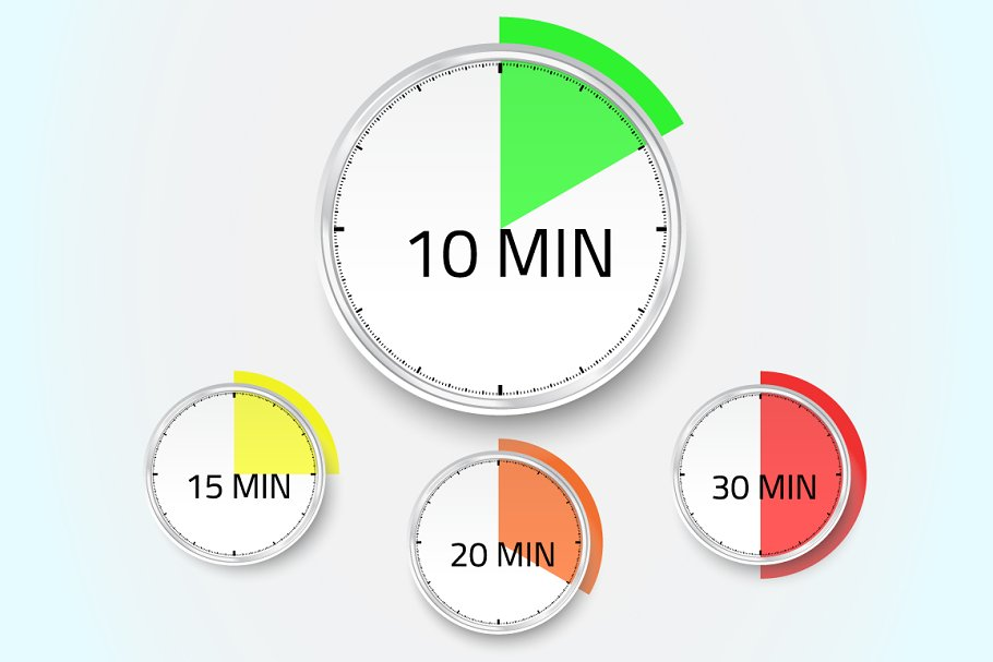 Vector Stopwatch Timer Icon in Objects - product preview 8