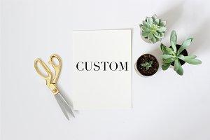 Custom Hand-Written Print