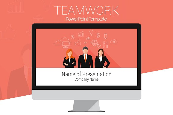 Teamwork powerpoint template presentation templates creative market toneelgroepblik Choice Image