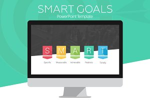 SMART Goals PowerPoint Infographic