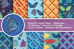 Geometric Butterfly Digital Paper
