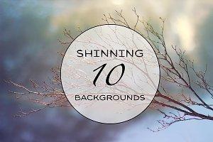 Set of 10 sunshine backgrounds