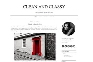 Blogger Template - Clean and Classy