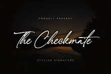 Sale!The Checkmate-Stylish Signature by  in Fonts