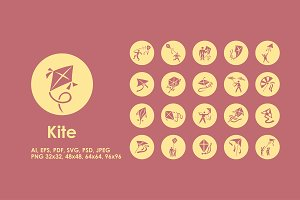 Kite simple icons