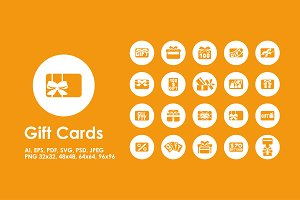 Gift Cards simple icons