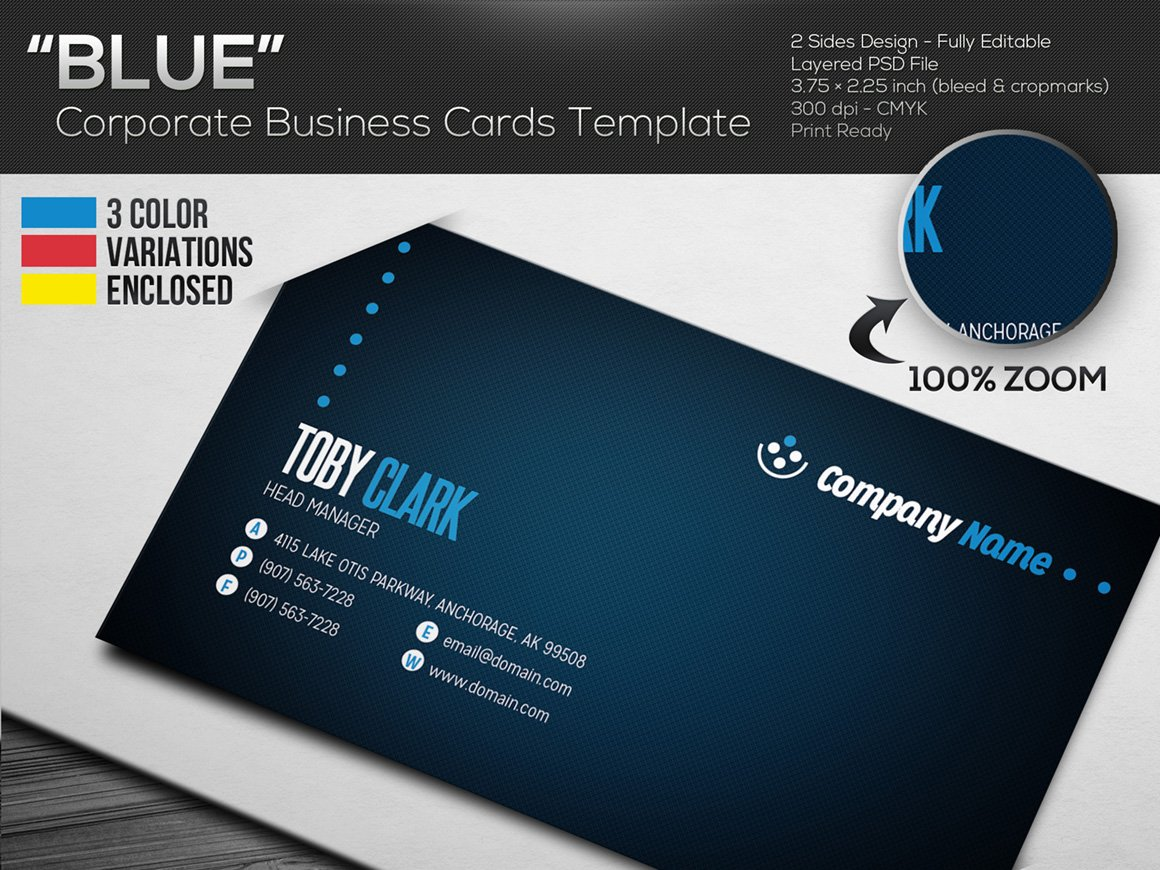 Blue corporate business cards business card templates blue corporate business cards business card templates creative market colourmoves