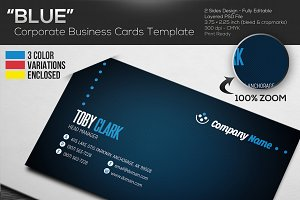 """BLUE"" - Corporate Business Cards"