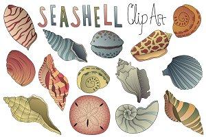 Seashell Clipart Vector PNG & JPG