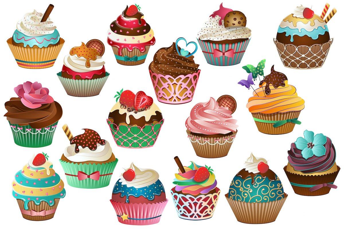 Cupcake Clipart Vector Png Amp Jpg Illustrations