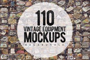 110 Vintage Mockups MEGA Bundle