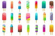Popsicle Clipart Vector, PNG & JPG