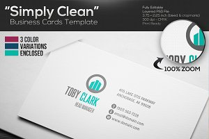 Simply Clean Business Cards Template