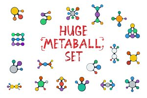 Huge Vector Metaball Set