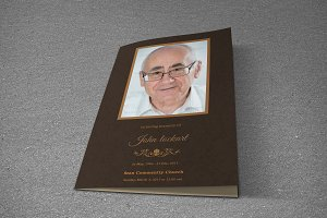 Funeral Program Template-T412