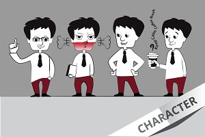 Set of Businessman Character.