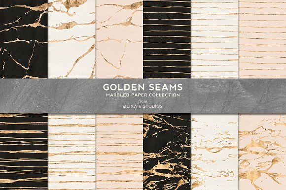 Effervescent Watercolors & Gold in Patterns - product preview 3