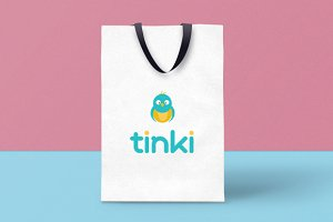 tinki logo for children shop