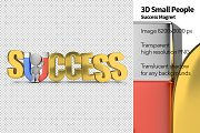 3D Small People - Success Magnet