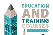 Education & training flat style