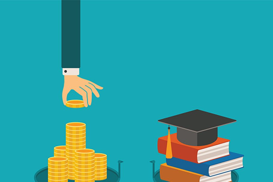 Education investment flat style in Illustrations - product preview 8