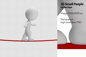 3D Small People - On the Rope