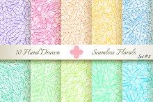 10 Ornate Seamless Florals. Set #5