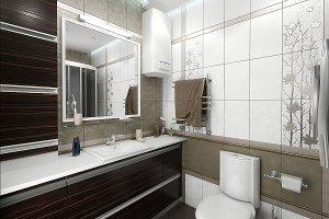 Bathroom minimalist style