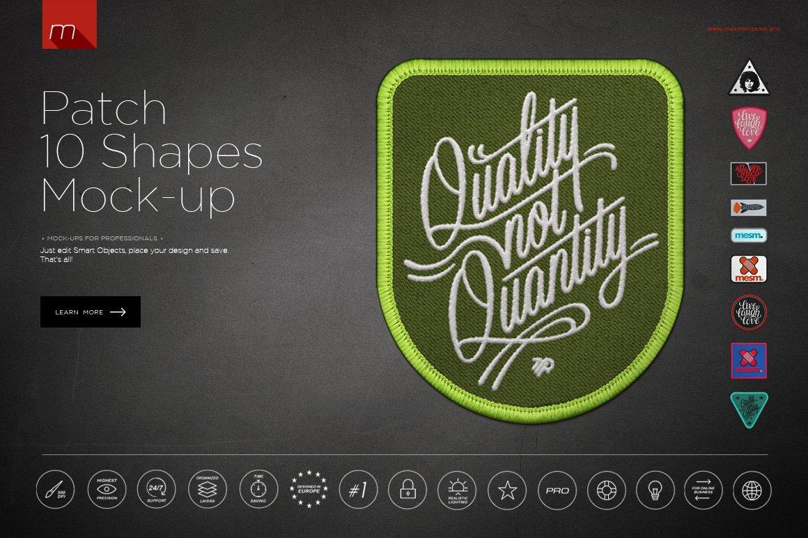 Patch 10 Shapes Mock-up ~ Product Mockups ~ Creative Market