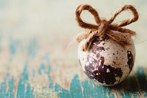Egg with whipcord bow