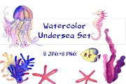 Watercolor Undersea Set