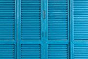 latticed door