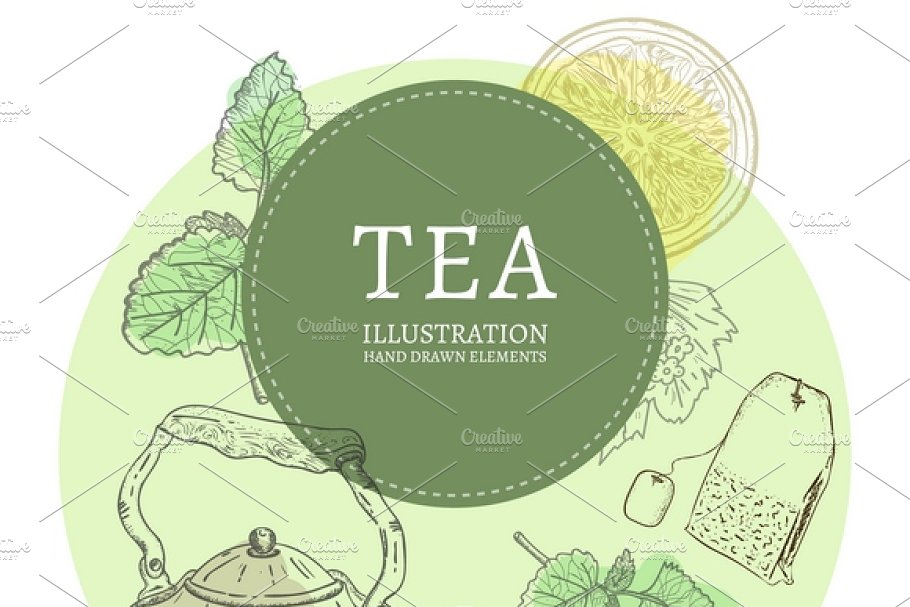 Tea party  in Graphics - product preview 8