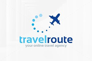 Travel Route Logo Template