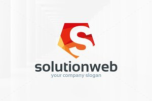 Solution Web - Letter S Logo