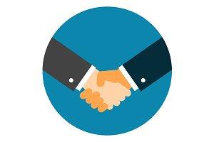 Handshake Icon Flat