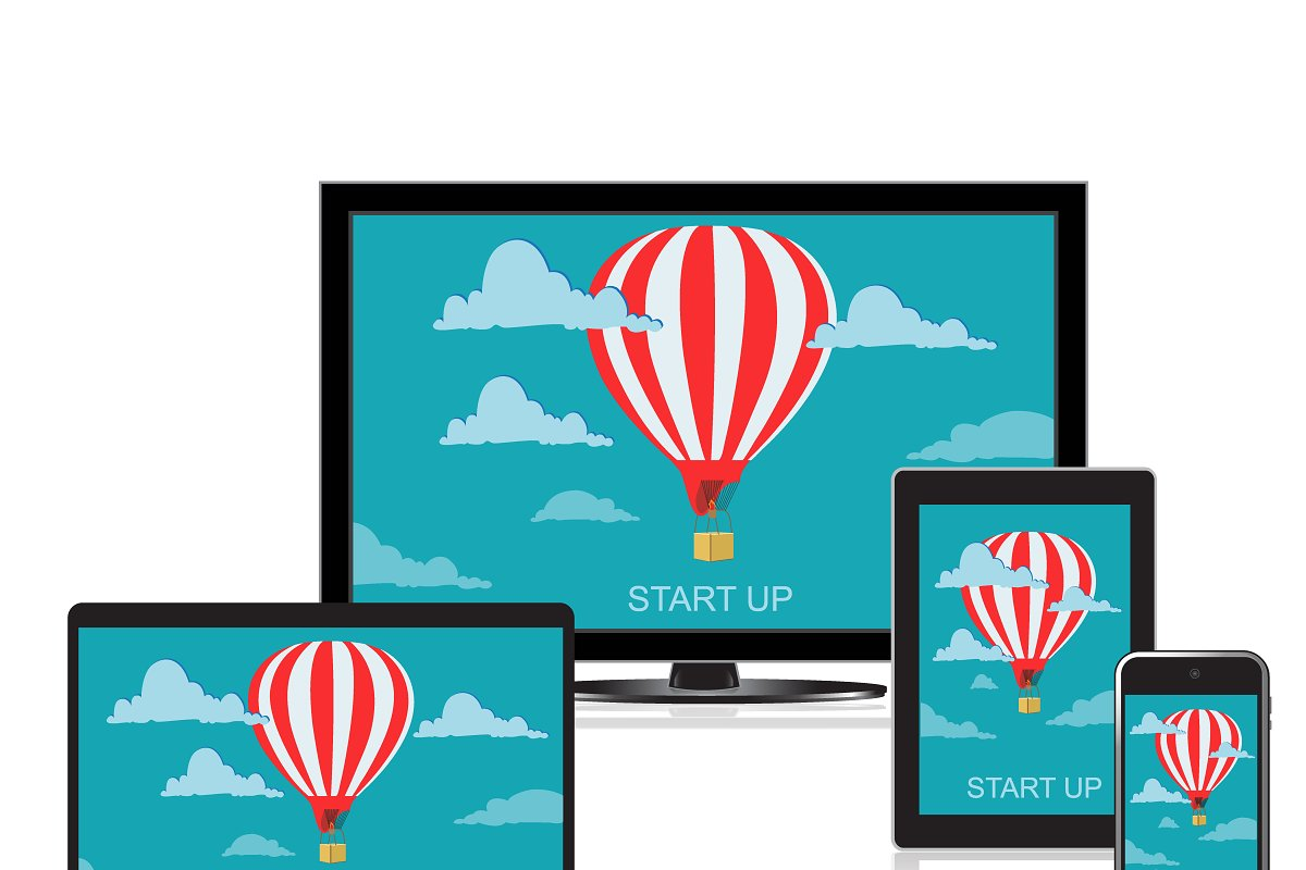 start up concept, launch, vector in Illustrations - product preview 8