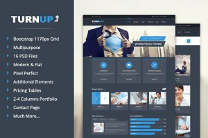 TurnUp - PSD Template